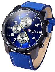 cheap -JUBAOLI Men's Quartz Wrist Watch Chinese Large Dial Stainless Steel Band Cool Black Blue Red