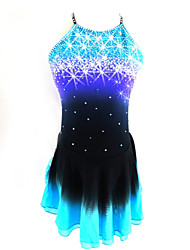 abordables -Robe de Patinage Artistique Femme / Fille Patinage Robes Noir / bleu. Spandex Tenue de Patinage Paillette Sans Manches Patinage Artistique