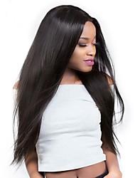 cheap -Brazilian Hair Straight Hair Weft with Closure 3 Bundles With  Closure 10-26inch Human Hair Weaves Natural Black