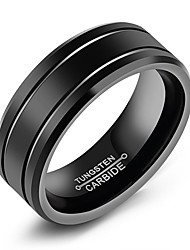 cheap -Men's Band Ring - Circle Simple / Casual / Fashion Black Ring For Daily / Formal