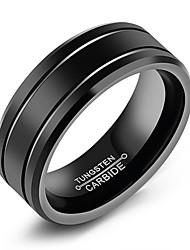 preiswerte -Herrn Bandring , Schwarz Stahl Titan Kreisform Einfach Freizeit Modisch Alltag Formal Modeschmuck