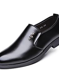 levne -Pánské Obuv PU Jaro Podzim Společenské boty Pohodlné Oxfordské pro Kancelář a kariéra Černá