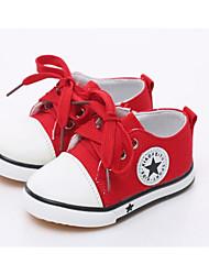preiswerte -Mädchen Schuhe Leinwand Frühling Herbst Komfort Sneakers für Normal Weiß Schwarz Rot Blau Rosa