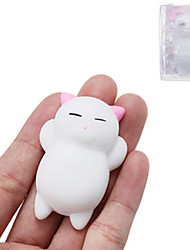 cheap -Pink Cat Kitten Squishy Squeeze Cute Healing Toy Kawaii Collection Stress Reliever Gift Decor