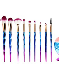 cheap -11pcs Makeup Brushes Professional Nylon Eco-friendly / Soft / Full Coverage Plastic