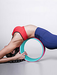 cheap -32 cm Yoga Wheel With Prop, Comfortable, Strongest Inversions & Backbends, Back Stretcher, Increase Precision & Flexibility Rubber For Pilates / Exercise & Fitness / Dharma Yoga