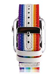 abordables -Bracelet de Montre  pour Apple Watch Series 3 / 2 / 1 Apple Bracelet Milanais Cuir Nylon Sangle de Poignet