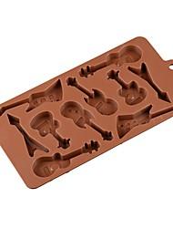 Недорогие -10 гитарных силиконовых торт формы 3d шоколадной формы мороженого производитель