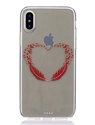 abordables -Funda Para Apple iPhone X iPhone 8 Antigolpes Ultrafina Diseños Cubierta Trasera Plumas Suave TPU para iPhone X iPhone 8 Plus iPhone 8