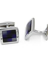 cheap -Geometric Silver Cufflinks Alloy Fashion Gift Office & Career Men's Costume Jewelry