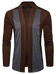 cheap -Men's Long Sleeves Cardigan - Solid Colored Turtleneck