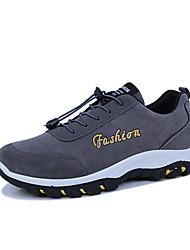 Недорогие -Муж. обувь Резина Весна Осень Удобная обувь Спортивная обувь Шнуровка для на открытом воздухе Черный Серый Синий