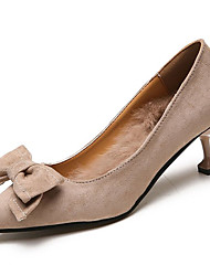 cheap -Women's Shoes PU Spring Fall Comfort Heels High Heel Pointed Toe for Casual Camel Black