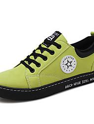 Недорогие -Муж. обувь Полотно Весна Лето Обувь для дайвинга Удобная обувь Кеды Оборки сбоку для Повседневные на открытом воздухе Черный Серый Зеленый