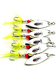 economico -5 pc Esca Esche rigide g / Oncia mm pollice, Metallo Pesca a mosca Pesca a mulinello Spinning Pesca a jigging Pesca con esca Pesca