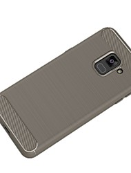 abordables -Funda Para Samsung Galaxy A8 2018 A8 Plus 2018 Ultrafina Color sólido Suave para
