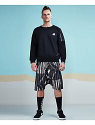 abordables -Homme Sports Col Arrondi Actif Sweatshirt - Imprimé, Couleur Pleine