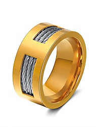 cheap -Men's Women's Band Rings Rock Hiphop Stainless Steel Jewelry Party Halloween