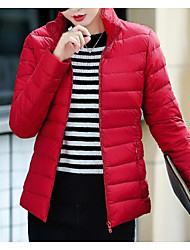 cheap -Women's Padded Coat,Cute Casual Sports & Outdoor Daily Wear Solid-Cotton Long Sleeves