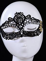 abordables -Masques d'Halloween Thème jardin Vacances Thème classique Thème de conte de fées Romance Fantastique Mode Famille Strass Tissu tissé