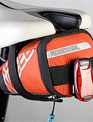 preiswerte -ROSWHEEL Fahrradtasche 0.5LFahrrad-Sattel-Beutel Reflexstreifen Regendicht tragbar Tasche für das Rad Nylon Leder Fahrradtasche Radsport