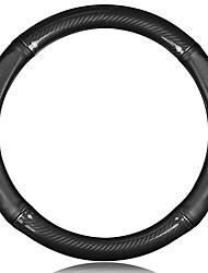 abordables -Protège Volant Cuir véritable 38cm Noir / Rouge For Volkswagen Gran Lavida / La vie / Sagitar Toutes les Années