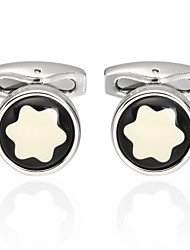 cheap -Snowflake Silver Cufflinks Classic Fashion Formal Office & Career Men's Costume Jewelry
