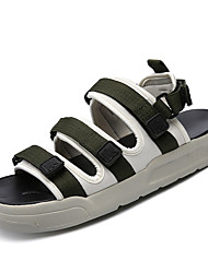 cheap -Men's Shoes Nubuck leather Summer Comfort Sandals for Casual Black Red Green