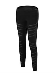 abordables -Femme Pantalons de Course Respirabilité Pantalon / Surpantalon Course / Running Polyester, Spandex Noir / Vert Véronèse S / M / L