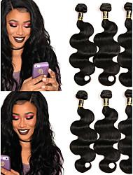 baratos -Cabelo Brasileiro Onda de Corpo Tramas de cabelo humano 3pçs Cabelo Humano Ondulado