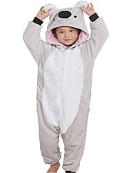 abordables -Pyjamas Kigurumi Koala Animé Combinaison de Pyjamas Costume Flanelle Toison Gris Cosplay Pour Enfant Adulte Pyjamas Animale Dessin animé