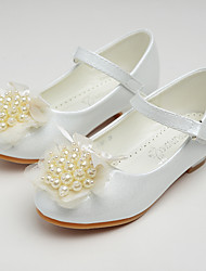 cheap -Girls' Shoes Patent Leather Spring Fall Flower Girl Shoes Light Soles Flats Walking Shoes Bowknot Applique Sparkling Glitter Flower for