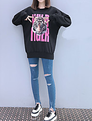 cheap -Women's Cotton Hoodie & Sweatshirt - Solid Colored