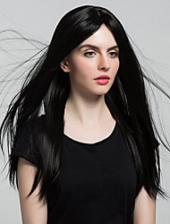 cheap -Synthetic Lace Front Wig Straight Synthetic Hair Middle Part Black Wig Women's 8-11inch Lace Front Wig