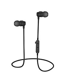 cheap -MS-T8 In Ear Neck Band Wireless Headphones Dynamic Plastic Sport & Fitness Earphone with Volume Control with Microphone Headset