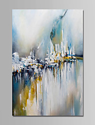 cheap -Oil Painting Hand Painted - Abstract Comtemporary Simple Modern Canvas