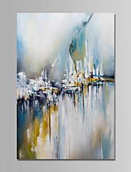economico -Hang-Dipinto ad olio Dipinta a mano - Astratto Contemporaneo Semplice Modern Tela