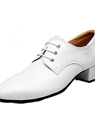 cheap -Men's Modern Cowhide Leather Oxford Low Heel White Customizable