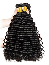 cheap -Brazilian Hair Deep Wave Natural Color Hair Weaves Human Hair Weaves Natural Black Women's