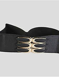 cheap -Women's Fabric Wide Belt,Black Vintage Casual