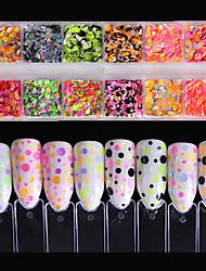 Недорогие -Гель для ногтей Пайетки Круг Милый стиль Классика Высокое качество Повседневные Дизайн ногтей