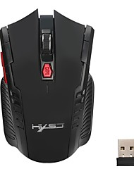 economico -hxsj 2.4ghz mini mouse wireless portatile usb ottico 2400 dpi regolabile professionale mouse da gioco gaming mouse per pc laptop
