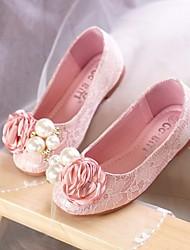 economico -Da ragazza Scarpe Di pizzo Primavera / Autunno Comoda / Scarpe da cerimonia per bambine Ballerine per Bianco / Rosa