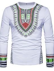 abordables -Tee-shirt Homme Coton Imprimé Soirée Chic de Rue Col Arrondi