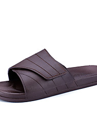 cheap -Men's Shoes Rubber Summer Comfort Slippers & Flip-Flops for Outdoor Black Brown Burgundy