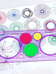 cheap -Drawing Tablet Spirograph Design Ruler Toys Rectangle Garden Theme Painting Parent-Child Interaction Fun New Design Soft Plastic