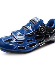 baratos -Tiebao® Adulto Tênis para Ciclismo Nailom Anti-Escorregar, Almofadado, Ventilação Ciclismo Black / azul Homens