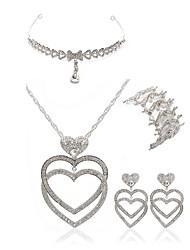 economico -Per donna I monili nuziali Gioielli per fronte Strass Diamanti d'imitazione Lega Cuori Di tendenza Europeo Matrimonio Feste Gioielli per