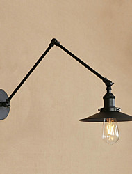 cheap -Mini Style Retro/Vintage Country Traditional/Classic Swing Arm Lights For Dining Room Study Room/Office Metal Wall Light 220-240V 110-120V