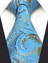 Недорогие -мужской партийный рабочий районный галстук - цветной блок Пейсли жаккард